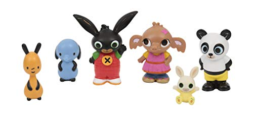 Bing - Pack de 6 figuritas, de los Personajes Principales de la Serie, Recomendado para niños de 1 año (Famosa BNG07001)