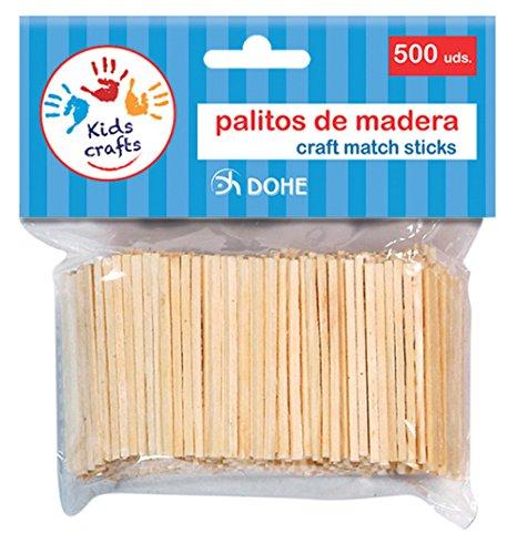Dohe 18106-Pack de 500 palitos de Madera, Color Natural (18106)