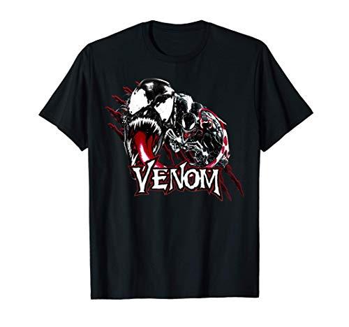Marvel Venom Character Profile Scratch Badge Camiseta