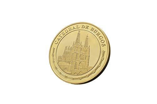 Moneda bañada en oro de 24 quilates. Conmemoración del 800 aniversario de la Catedral de Burgos. Moneda de colección. Edición limitada y numerada a 5.000 unidades.