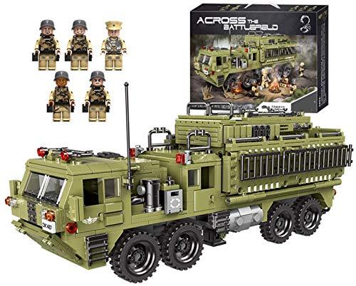QSSQ Bloques de construcción de Camiones Pesados, Figuras de Las Fuerzas Armadas de la Segunda Guerra Mundial, Juego de Rompecabezas 3D, Regalo de cumpleaños (1377 Piezas)