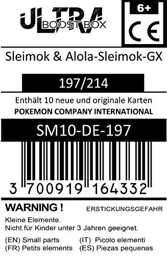Sleimok & Alola-Sleimok-GX (Grotadmorv et Grotadmorv d'Alola-GX) 197/214 Full Art Alternative- #myboost X Sonne & Mond 10 Kräfte im Einklang - Coffret de 10 Cartes Pokémon Allemandes
